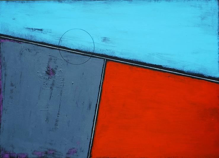Massari - La regola e il tempo 12,2018  smalto, acrilico e pastello su tela cm 50x70 br.jpg