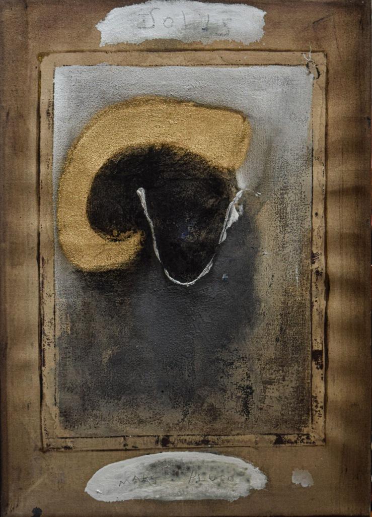 """Margareth Dorigatti, """"Ariete"""", 2019, tecnica mista su tela, cm 50 x 35"""