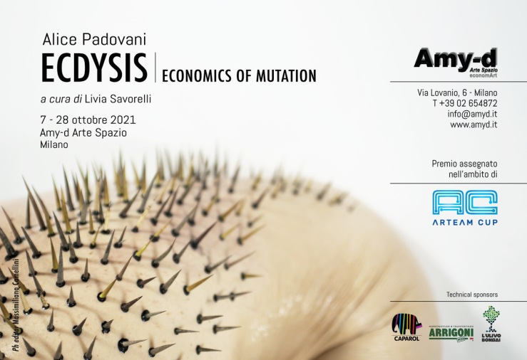 amy d arte spazio invito alice padovani. ecdysis. economics of mutation